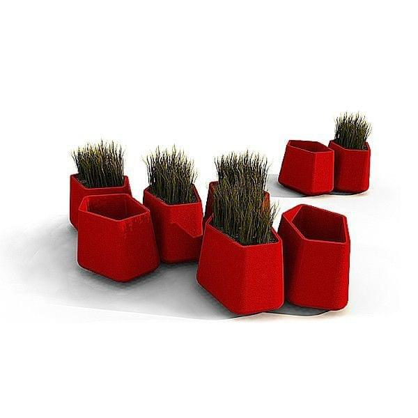 Pot modulaire rock garden qui est paul for Objet deco rouge pour salon