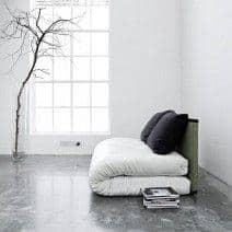 Slipcover completa feita em algodão, equipado com zíperes em 3 lados