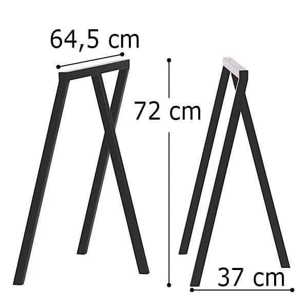 Ces 2 tréteaux LOOP par HAY sont sobres, faciles à vivre et abordables - 2 hauteurs disponibles