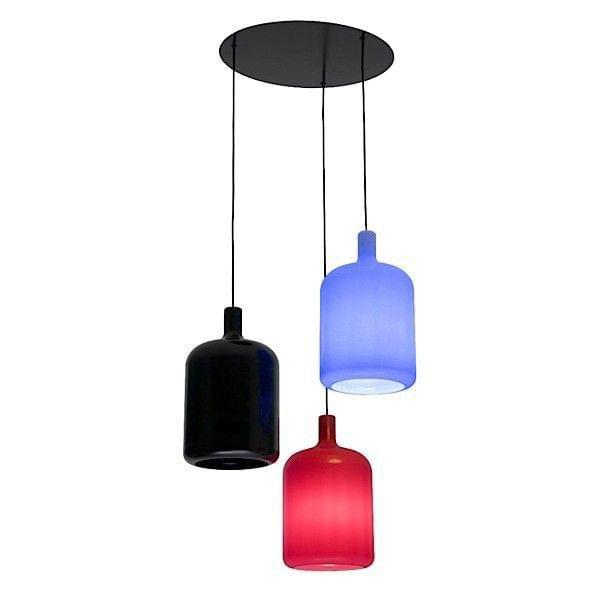 BULB Hanging Lamp, 3 Lamps Out Of Polyurethane, BOB DESIGN
