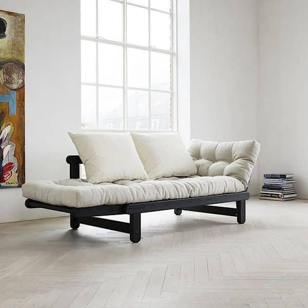 BEAT ist ein Zweisitzer Sofa-Bett, die im Bett oder Liege verwandelt werden kann, auf jeder Seite der Sofa - Deko und Design