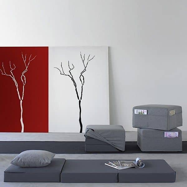TRIO הוא פוף פונקציונלי עיצוב, שולחן קפה ומדי פעם מיטה - דקו ועיצוב, SOFTLINE