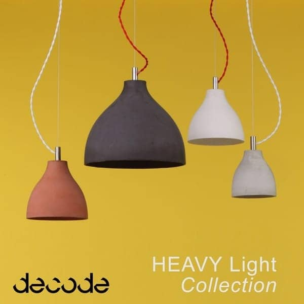HEAVY LIGHT COLLECTION - la beauté brute d'une suspension en béton finement travaillé.