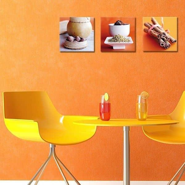 Trio de photographies d'auteurs imprimées sur toile et montées sur châssis