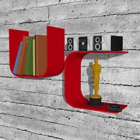 Etagère murale en Kerrock® UandMe, en forme de U
