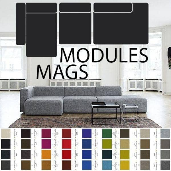 MAGS Sofa, Modular units, fabrics and leathers: create your customized sofa, HAY