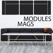Sofa MAGS en cuir SILK, les modules. HAY
