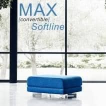 MAX is a functional design pouf and extra-bed, SOFTLINE - deco and design