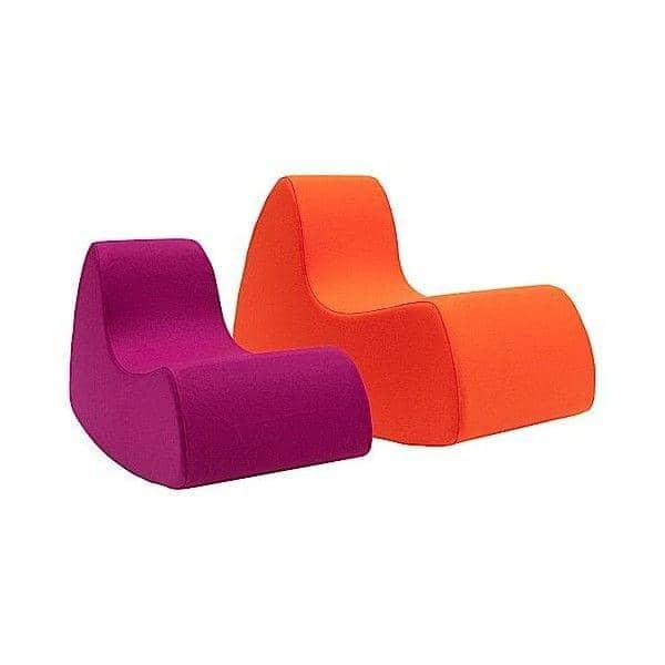 GRAND PRIX XL en stor og generøs lænestol, meget komfortable med sine afrundede former - Deco og design, SOFTLINE