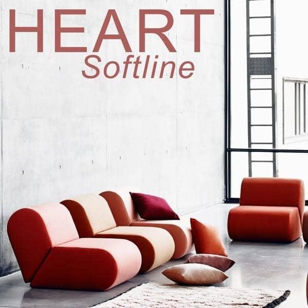 HEART : un sofá con el generoso heart, SOFTLINE - deco y el diseño, SOFTLINE