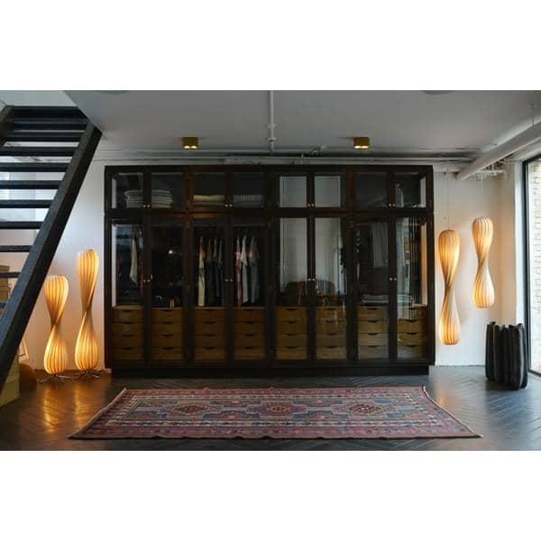 Tom Rossau - Lampe spirale en bois ou PVC TR 7 - sculpturale et toute en rondeurs