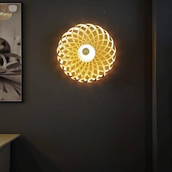 Tom Rossau - Suspension ou applique TR 5 - un jeu de lamelles en bois pour une lampe très chi