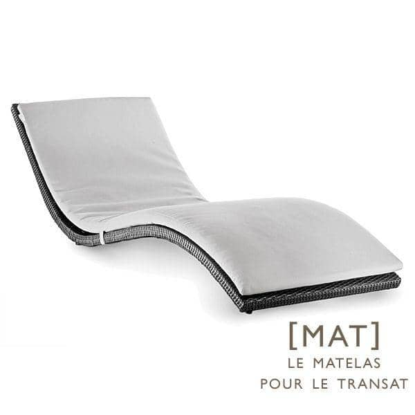 matelas pour le transat wave au jardin et sur la. Black Bedroom Furniture Sets. Home Design Ideas
