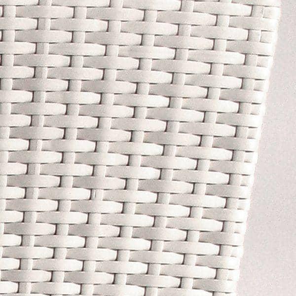 Cache pot en résine tressée traitée anti-UV, étanche, structure aluminium et intérieur galvanisé