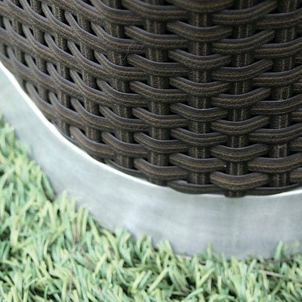 Salon de jardin INTIMITY, structure aluminium, résine tressée traitée anti-UV