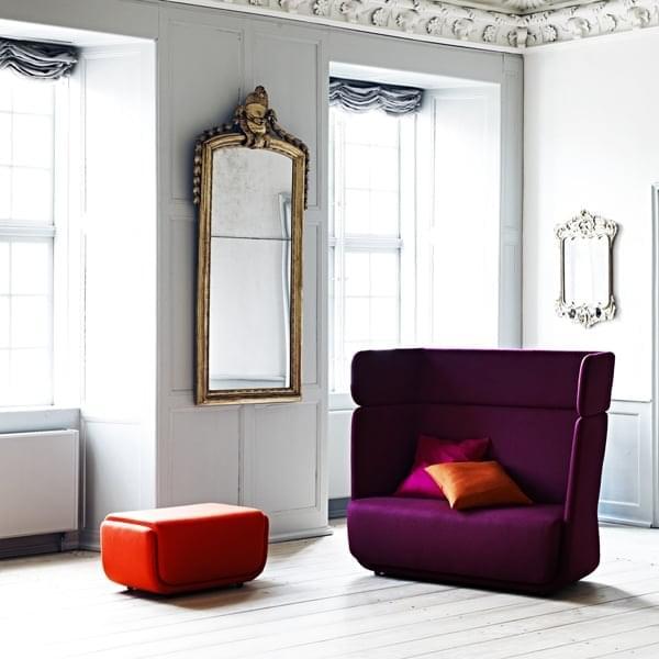 BASKET, un fauteuil et un sofa cosy et intimistes. SOFTLINE