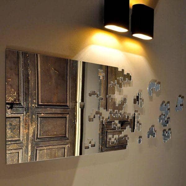 Miroir d coratif dissolve parts 145 x 45 cm robba edition for Miroir decoratif