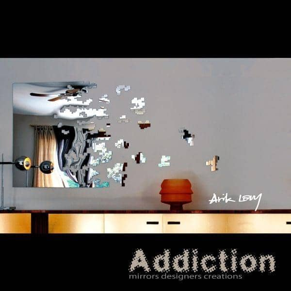 miroir d coratif dissolve un miroir oeuvre d 39 art sign. Black Bedroom Furniture Sets. Home Design Ideas