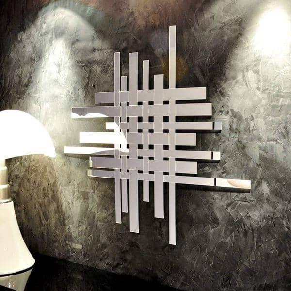 Miroir décoratif TRAFIC : la vie urbaine stylisée - 103 x 91 cm