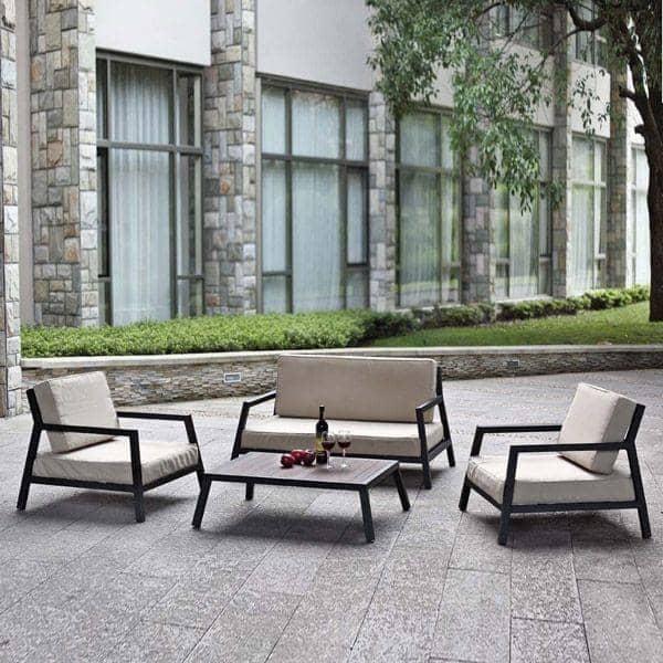 GARDEN ITALIA: a set of black lacquered aluminium, for small spaces -  interior decoration and design