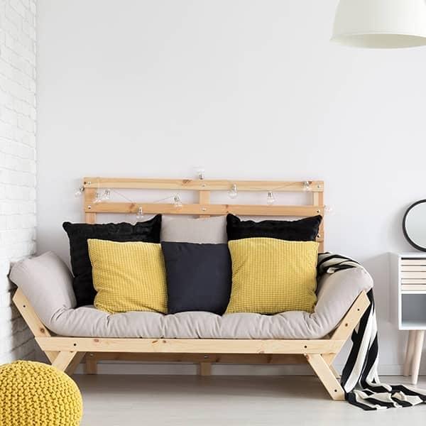 Utrolig ALULA, en komfortabel sovesofa, chaiselong, NORDIC DESIGN ALULA XU-75