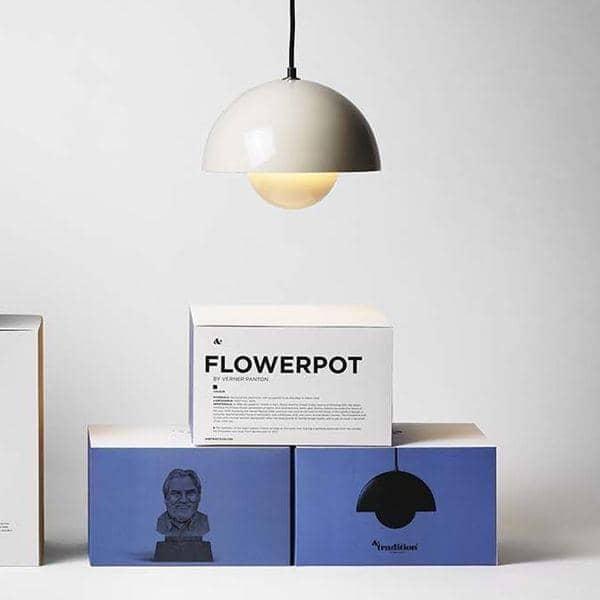 FLOWERPOT belysning kolleksjon designet av Verner Panton: tidløs, Deco and nordic utformet, AND TRADITION