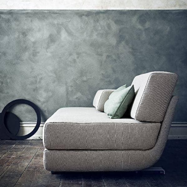 lounge sofa 3 places convertible m ridienne et pouf tissus felt softline. Black Bedroom Furniture Sets. Home Design Ideas