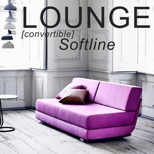 lounge sofa convertible 3 places m ridienne et pouf tissus felt softline. Black Bedroom Furniture Sets. Home Design Ideas