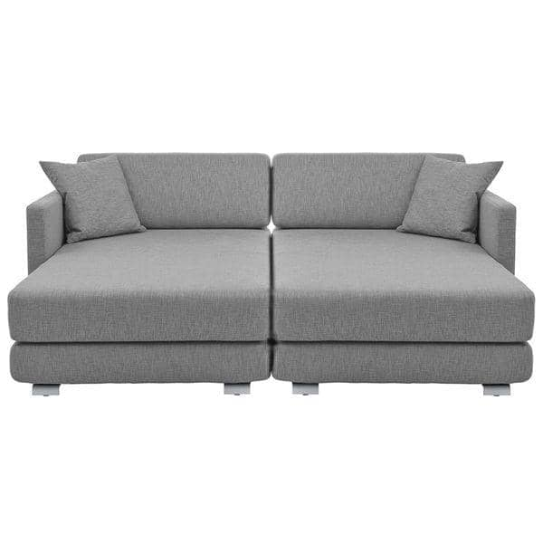 Lounge sofa 3 places convertible m ridienne et pouf tissus felt softline - Meridienne deux places ...