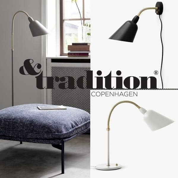 bellevue sammlung wandleuchte schreibtischlampe and stehlampe and tradition. Black Bedroom Furniture Sets. Home Design Ideas
